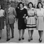 Madrid, Spain, 1943. Left to right – Yvonne, Father, Mother, Willy, and Mary.