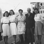 Marques De Comillas ship, 1943. Left to right – Yvonne, Willy, Mother, Father, and Mary.