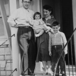 Beaconfield, Canada, 1956. From left to right – George, Vivian, Yvonne, and Paul.