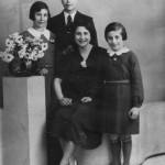 Amsterdam, 1936. Yvonne on far right, next to sister, Willy. Behind them, Mary, and Marcel.
