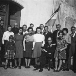 Some refugees at Maison Mazard, Southern France, 1941. First row, from right to left – Yvonne, Father, Willy, Mother, and Mary.